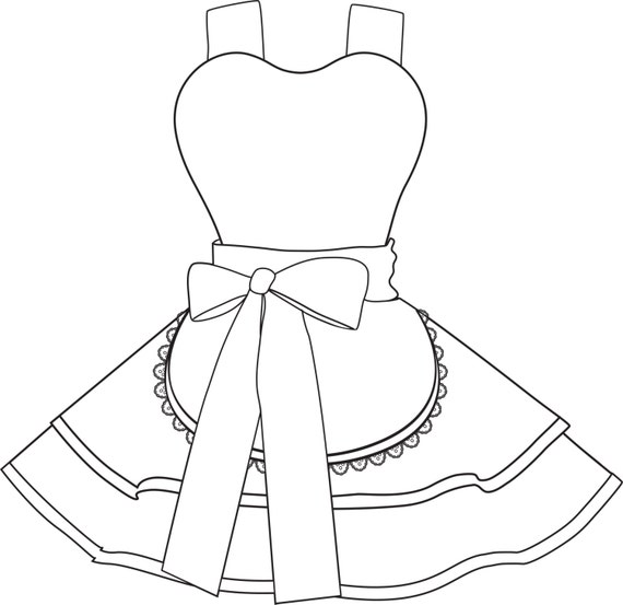 dotties diner retro pinup custom order apron any size etsy Colored Petticoats and Girls 50