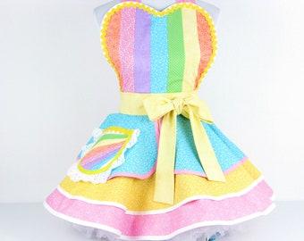 Rainbow Princess Unicorn Apron Made To Order
