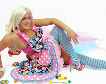 Gumball Retro Sexy Candy Shop Apron in Stock