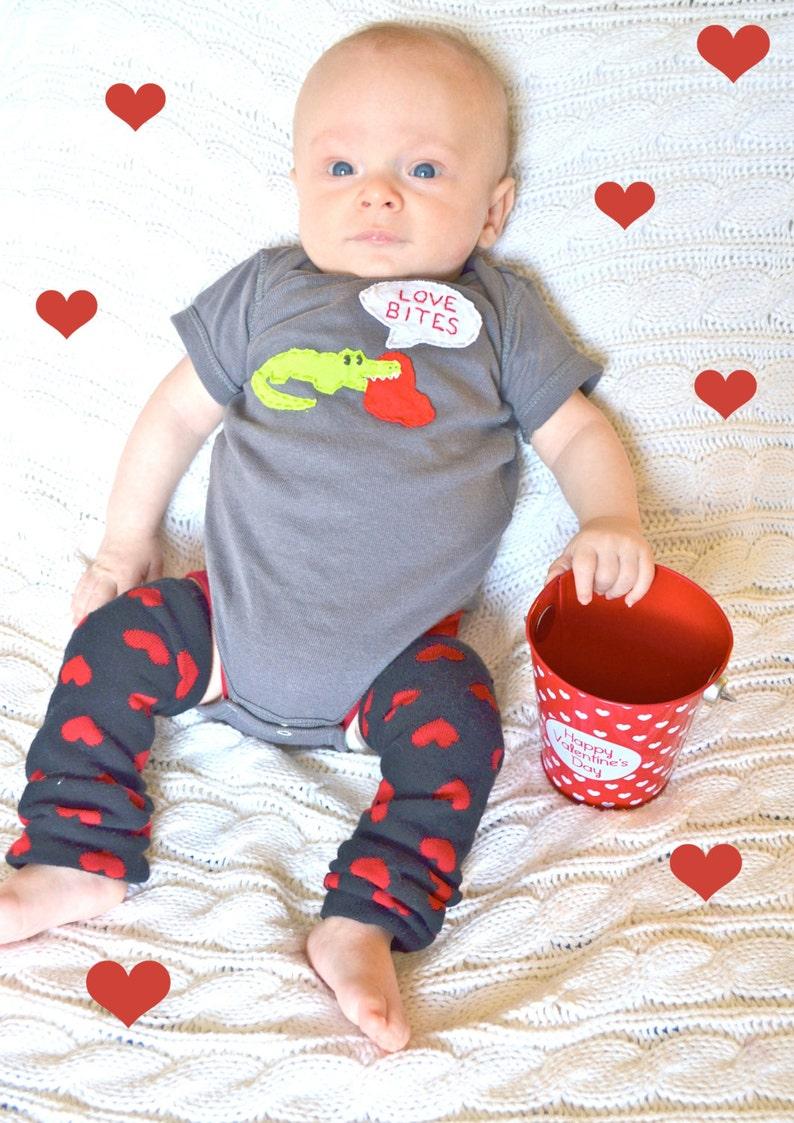 perfect for 1st Valentine/'s Day Pics Valentine/'s Day LOVE BITES baby Bodysuit