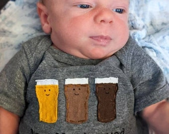 """Funny baby Onesie® """"Locally Brewed!"""", Beer baby one piece, fun and unique baby shower gift, baby bodysuit, baby gift, home brewed baby"""