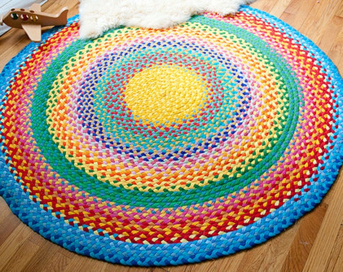 megs rainbow braided cotton rug