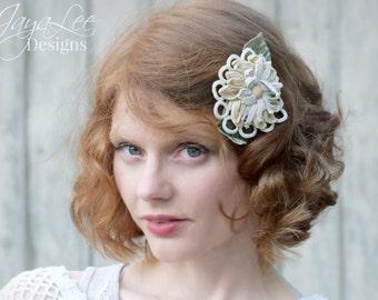 Hair Clip / Lace Hair Barrette / Spring Daisy