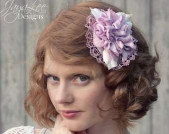 Lavender Hair Flower Clip, Barrette