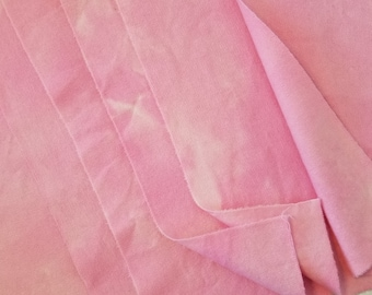 Hand-dyed wool fabric - bubble gum pink - rug hooking - applique and crafts - quilting - pastel  pink - wool applique - bright pink - 0381