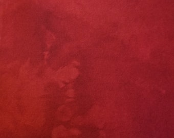Hand dyed wool fabric - primitive red wool - rug hooking - applique and craft - dark red wool - quilting - Christmas red - 0207