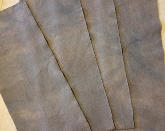 Hand dyed wool fabric - silver gray - rug hooking - applique and crafts - wool applique - quilting - medium gray wool - 0364