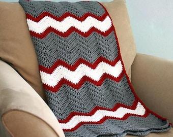 Crochet afghan pattern, chevron blanket pattern, crochet throw pattern, easy baby blanket pattern, crochet chevron pattern, ok to sell,
