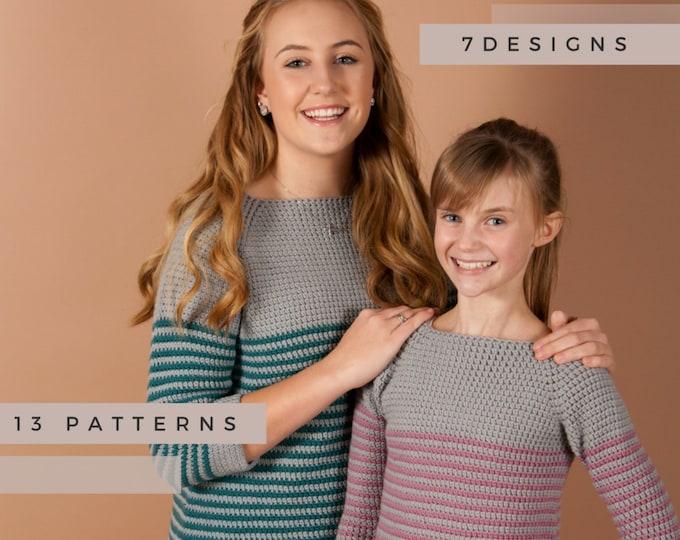 Cool Weather Wear Pattern Ebook - 7 Designs, 13 Patterns