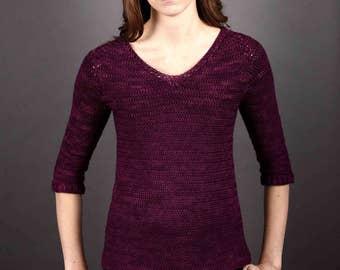 aabfdd23c01884 Crochet sweater pattern. women s sweater pattern crochet