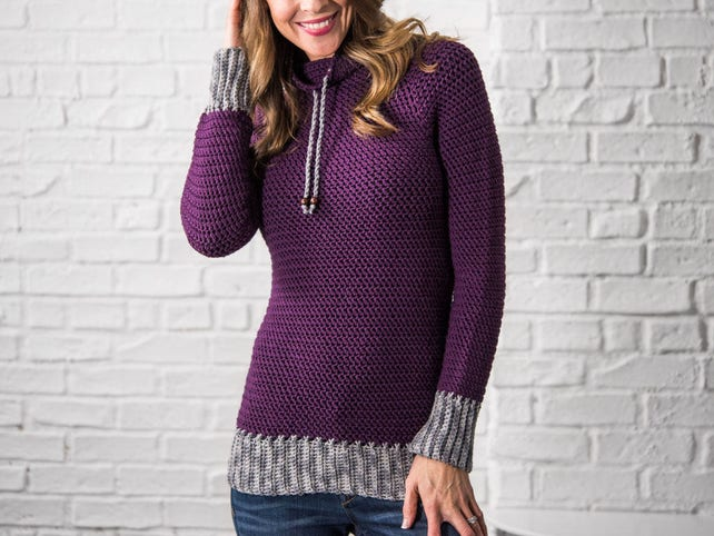Crochet Sweater Pattern Women Plus Size Top Down Crochet Etsy