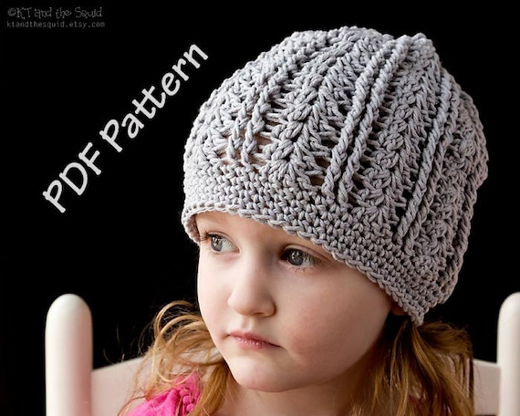 Instant Download Crochet Hat Pattern Cotton Slouchy Hat Etsy