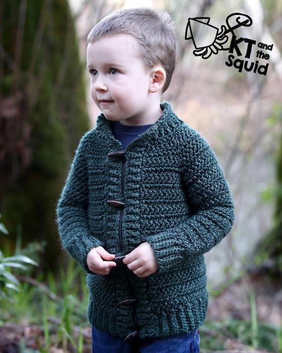 Crochet Cardigan Pattern Childrens Cardigan Boys Cardigan Etsy