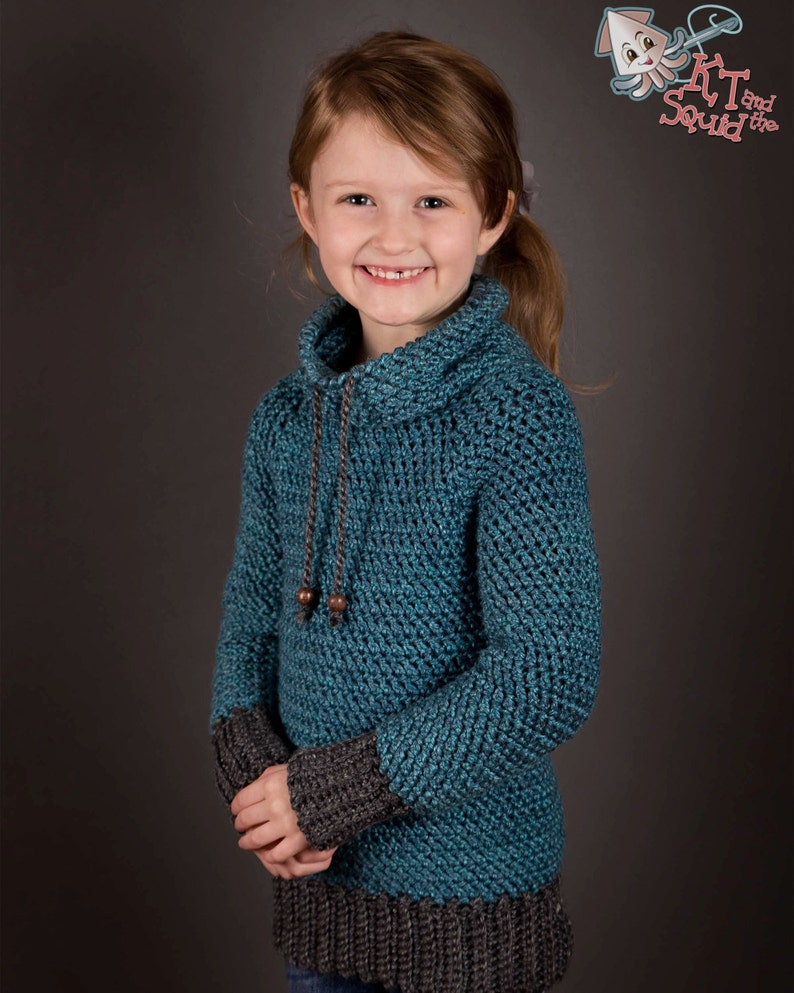 f303daf2ea83 Crochet Sweater pattern Children top down crochet sweater