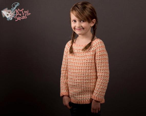 Crochet sweater pattern girls crochet top pattern Girls