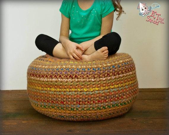Brilliant Crochet Pattern Pouf Pattern Crochet Foot Stool Crochet Pouf Bean Bag Chair Newborn Posing Pillow Crochet Stash Buster Pillow Beatyapartments Chair Design Images Beatyapartmentscom
