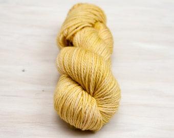 Hand dyed yarn, worsted yarn, yellow yarn, straw yarn, semi solid yarn, merino yarn, superwash yarn, dyed yarn, aran yarn, duckling yarn