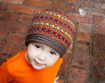 crochet hat pattern, crochet pattern, striped crochet pattern, crochet, pattern, boy hat, girl hat,