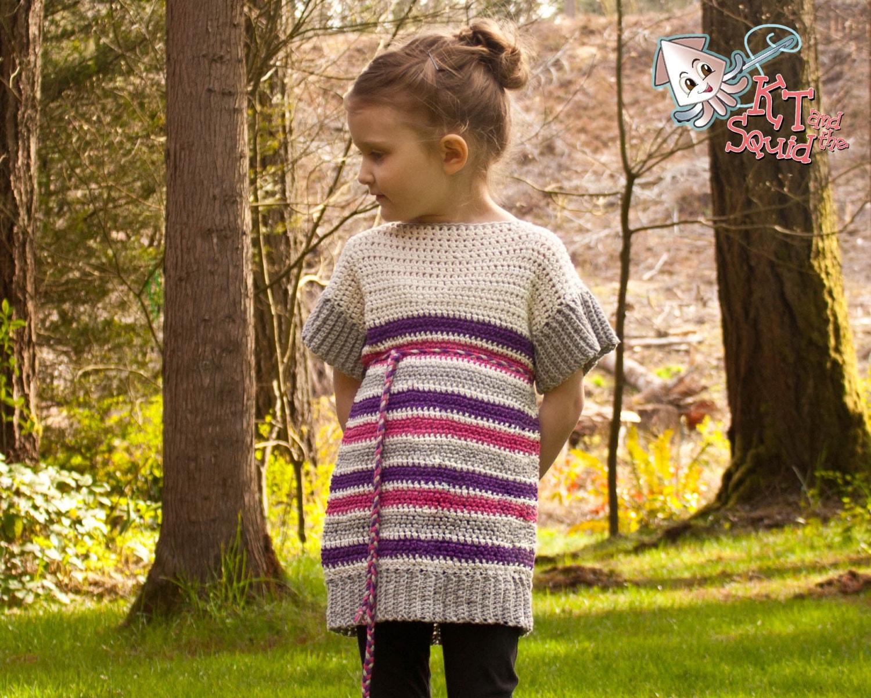 Crochet Pattern Girls Summer Tunic Crochet Girls Top Etsy
