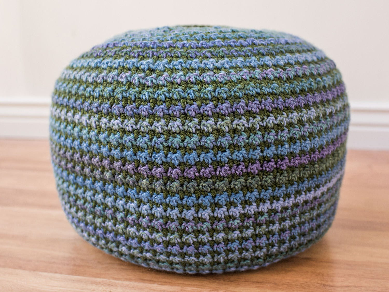 Crochet Pouf Pattern, crochet pillow pattern, crochet pattern, floor ...