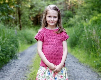Crochet top pattern, girls crochet top pattern, summer, spring, ok to sell, crochet t shirt, crochet sweater, girls top pattern, easy