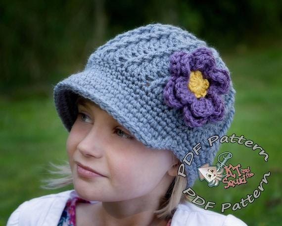 Crochet Newsboy Hat Pattern Newsboy Hat Pattern Crochet Etsy