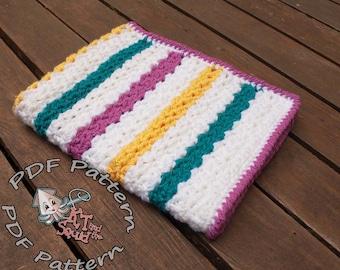 Easy Crochet afghan pattern, baby blanket pattern, crochet throw patten, easy baby blanket pattern, crochet pattern permission to sell
