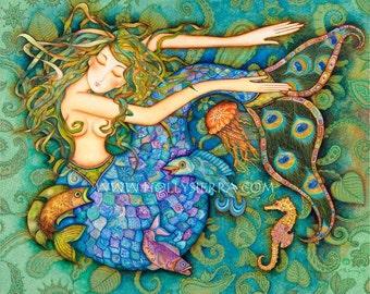 Sirene (The Mermaid) -  A Fine Art Greeting Card