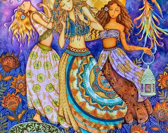 Moon Dance - A Fine Art Greeting Card