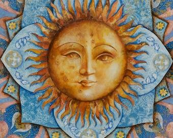 Blue Sun - A Fine Art Greeting Card