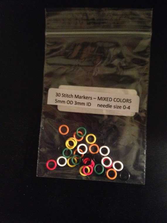 Rubber 30 10mm OD Pink Stitch Markers or Oh Rings or Jump Rings