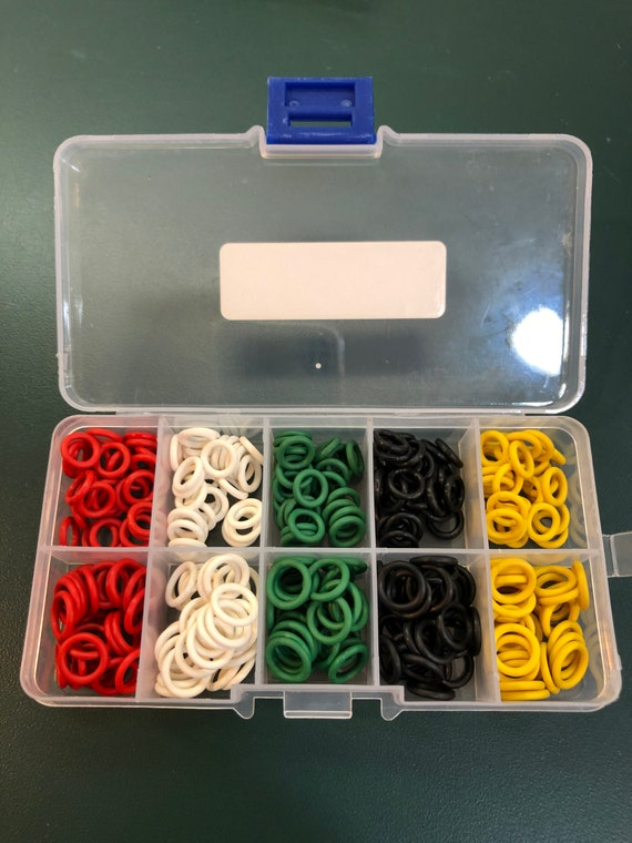 30 Tiny Stitch Markers 5mm OD 3mm ID for size 0-4 Needles Silicone Rings