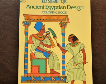 Egyptian Coloring Book Ancient Design Ed Sibbett Jr Dover Adult Gift Under 10 1978