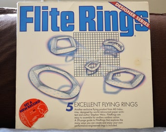 Paper Planes/Flite Rings/AG Industries/Flying Rings/Fiberboard/Flying Toys/DIY Paper Planes/Aviation Gift/1987