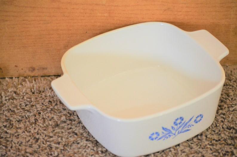 Corning Casserole Dish Cornflower Blue Set of 4 No Lids  1957-1988