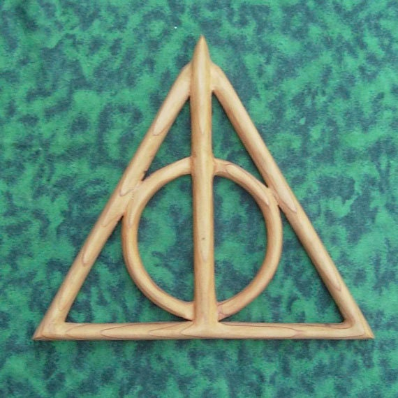 Master Of Death Symbol Deathly Hallows Wood Carving Cloak Of Etsy