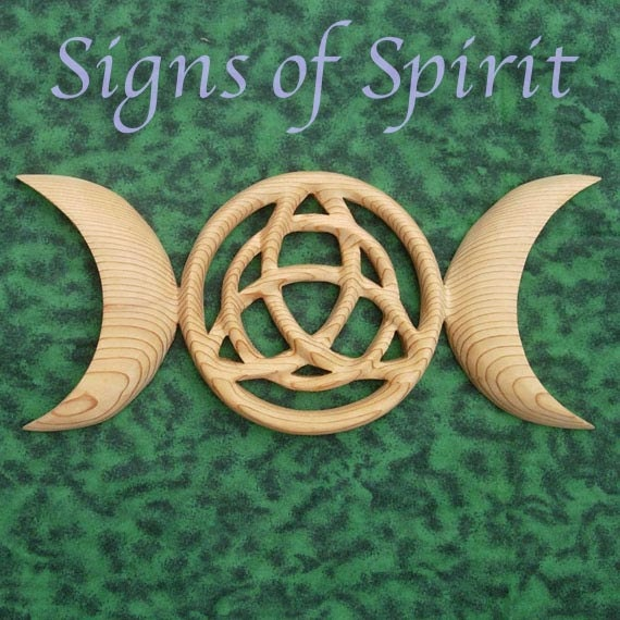 Triple Moon Goddess With Triquetra Celtic Pagan Symbol Modern Etsy