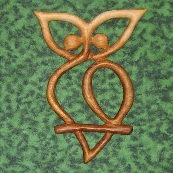 Celtic Owl Knot Transition Mystery And Mysticism Wisdom And Etsy