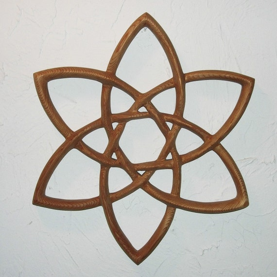 Double Trinity Knot Wood Carved Celtic Knot Basic Triquetra Etsy