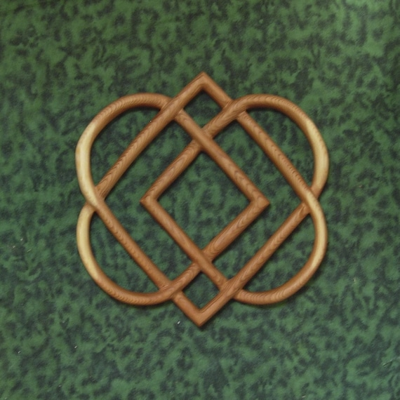 Celtic Knot Of Four Hearts Family Love Knot Wood Carving Etsy