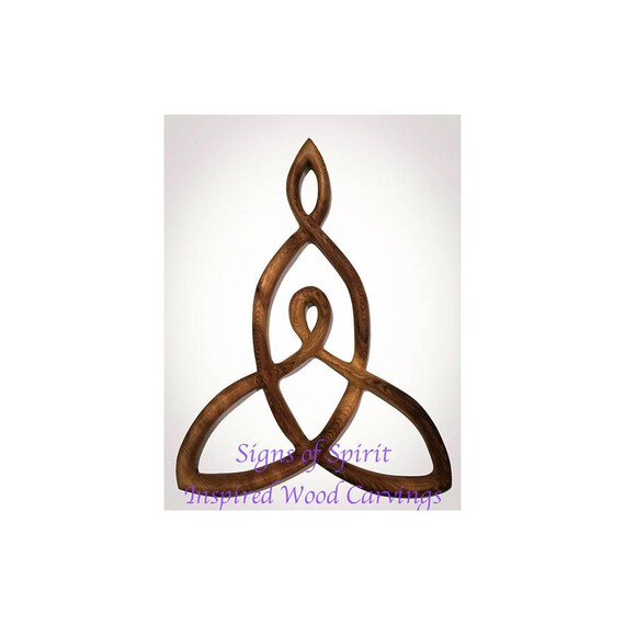 Mother And Child Knot Wood Carved Celtic Knot Of Mothers Etsy