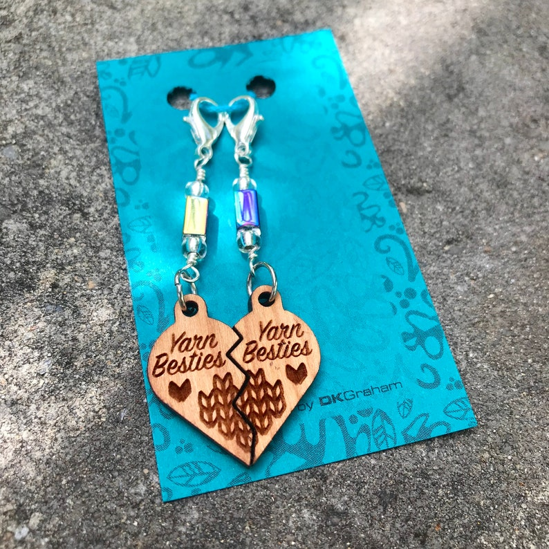 Yarn Besties Friendship Heart Charms Stitchmarkers with image 0