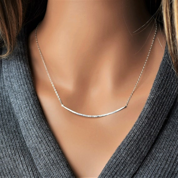 Infinity Close /& Free Shipping Antiqued Swirl 925 Sterling Silver Necklace with 925 Filigree Bar; 925 Bar Necklace; Scroll Design Bar