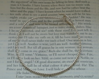 Twisted Sterling Open and Shut Bangle, Contemporary Charm Bracelet