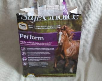 Horse, feed sack, tote, bag