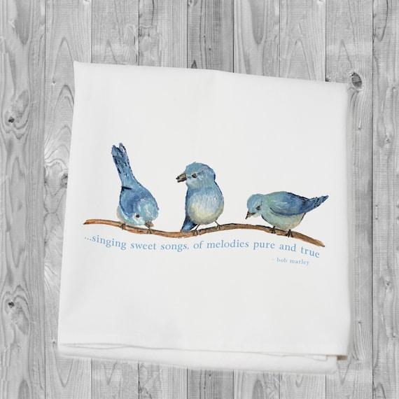 spring is coming Flour sack towel bird towel