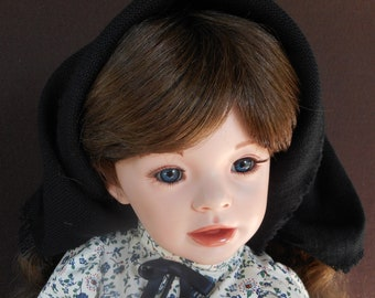 Porcelain Doll by Artist -  28 inch - A Country Maiden - OOAK