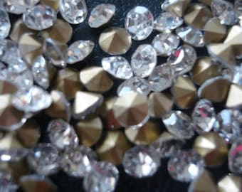 a6c1e2da8 100pcs crystal rhinestones tin cuts high quality 4.5x1.5mm foil backed  misc014