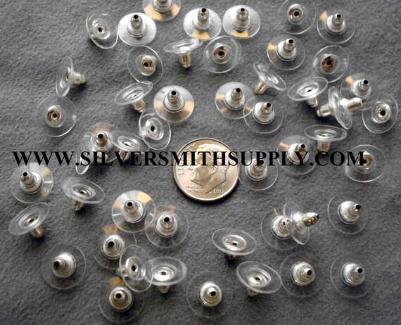 Earring clutches 100 Tube shaped earring backs clutches earring nuts FPE139A