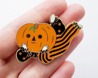 pumpkin boi enamel pin // halloween pin